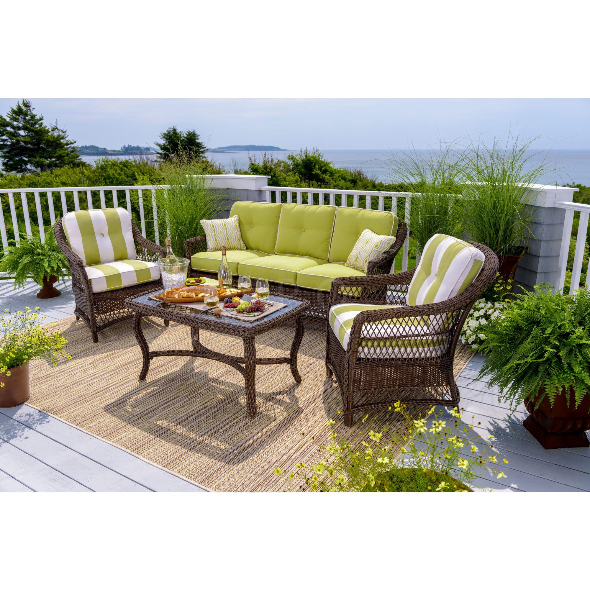 Outdoor Patio Furniture Under 200: Berkley Jensen East Hampton 4-Piece Wicker Set