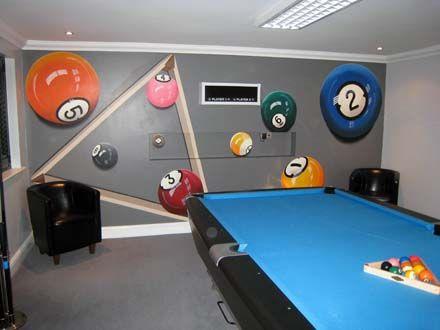 Mural painted in a pool games room