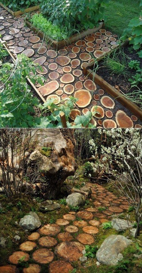 Photo of Schöne Ideen für Gartenwege mit Holz