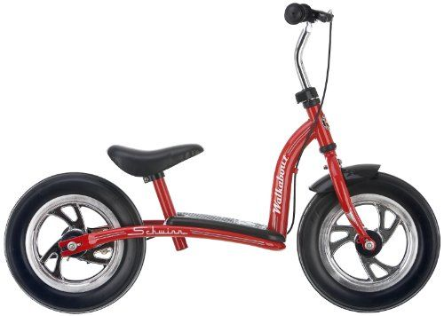 Schwinn Unisex 12-Inch Walkabout Balance Bike - perfect way for your child to learn how to balznce on a bicycle and feel confident to go and take on the experience of riding a traditional bike. Adjustable height saddle and handlebar for growing kids.