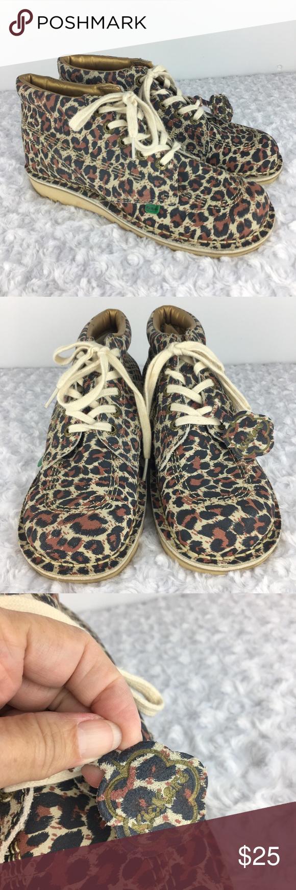 Kickers Leopard Print High Tops | High