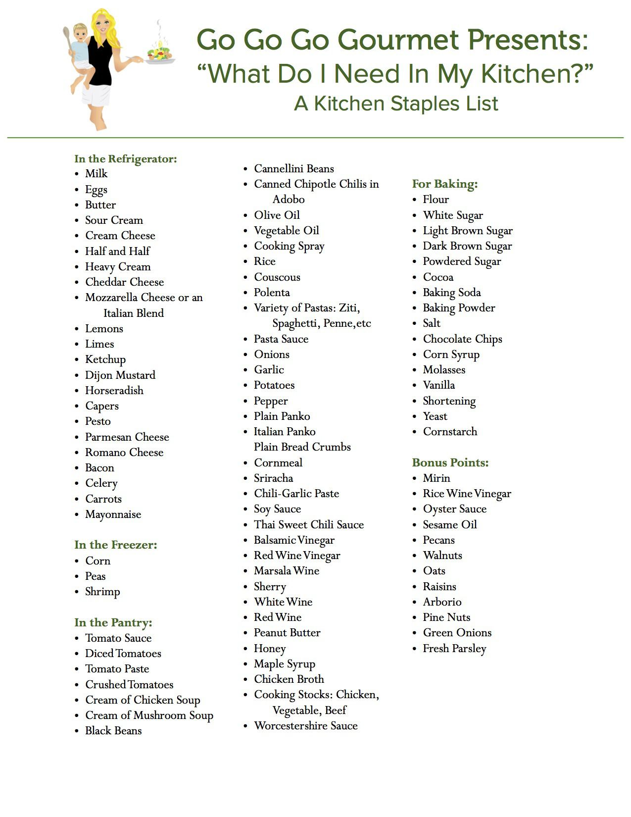 GGGG Kitchen Staples | Cooking tips and great ideas! | Pinterest ...