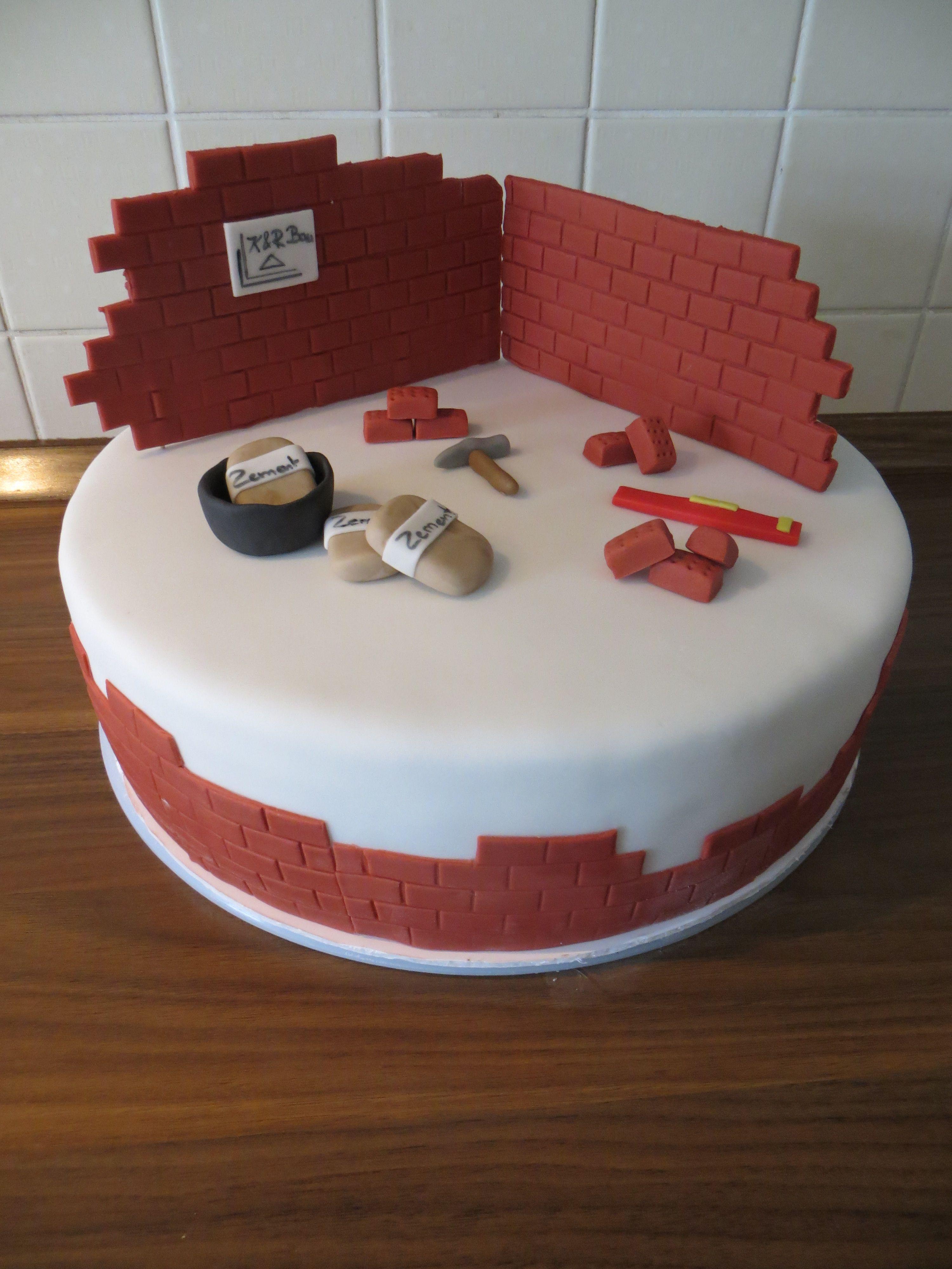 Maurer Torte Grosse Kuchen Lustige Kuchen Fondant Torte Geburtstag