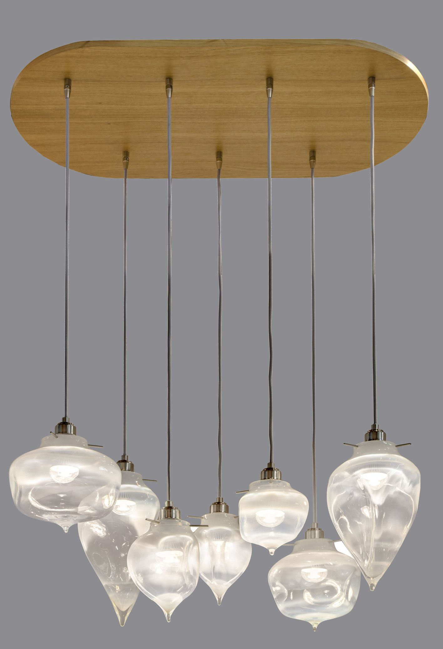 Alabaster Rock Chandelier With Wood Canopy By Jamie Harris At