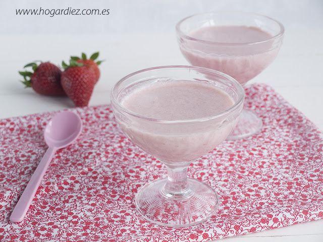 Hogar diez: Panna Cotta de fresas