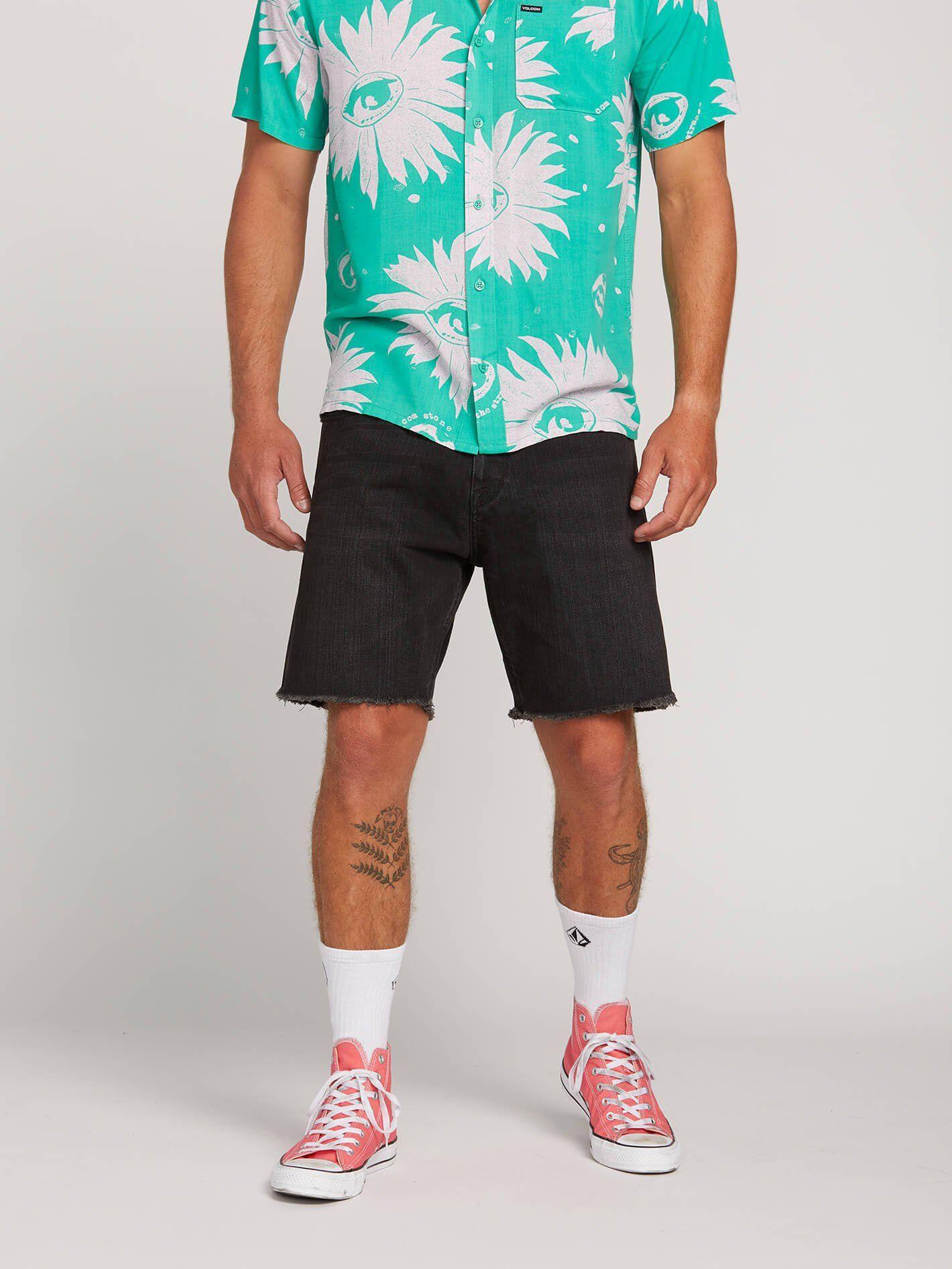 Kinkade Denim Cutoff Shorts - Blackity Black