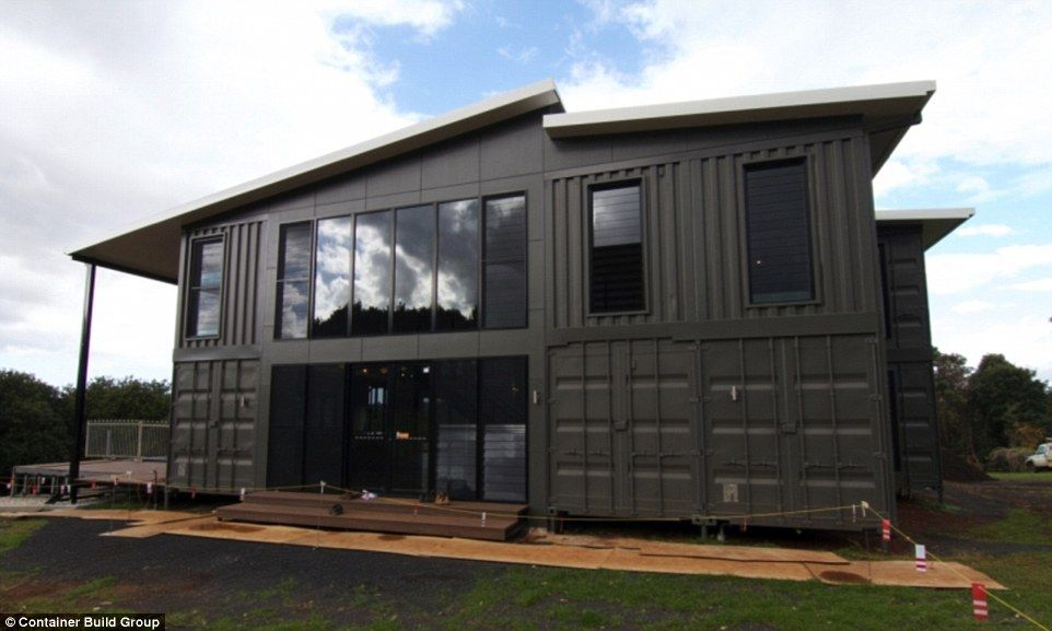 A queensland based building company is offering lavish homes at a fraction of the usual price using shipping containers