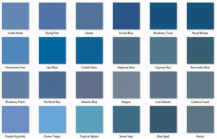 comparison of some behr blues popular paint colors most on behr paint interior color chart id=13432