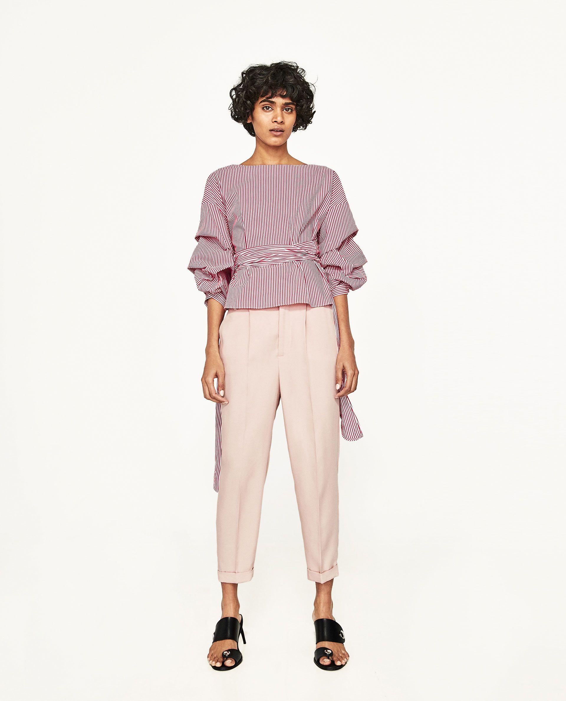 Bilde 1 fra ANKELLANG BUKSE MED STRIKK fra Zara