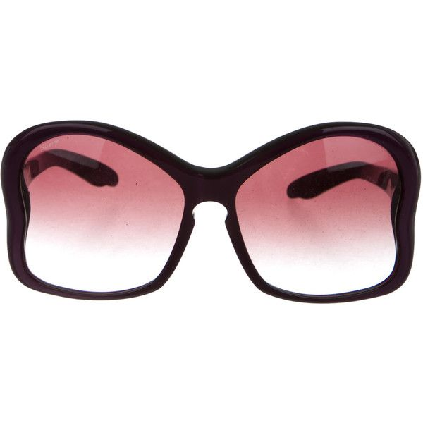0ea46a3bfa2 ... usa pre owned prada oversize butterfly sunglasses 145 liked on polyvore  featuring accessories aebbb aac91
