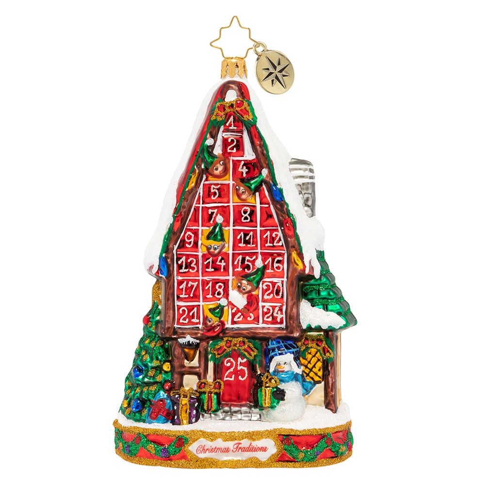 Christopher Radko Ornaments Festive Advent Calendar Ornament 1020059 Handcrafted Christmas Ornaments Christmas Traditions Christmas Ornaments