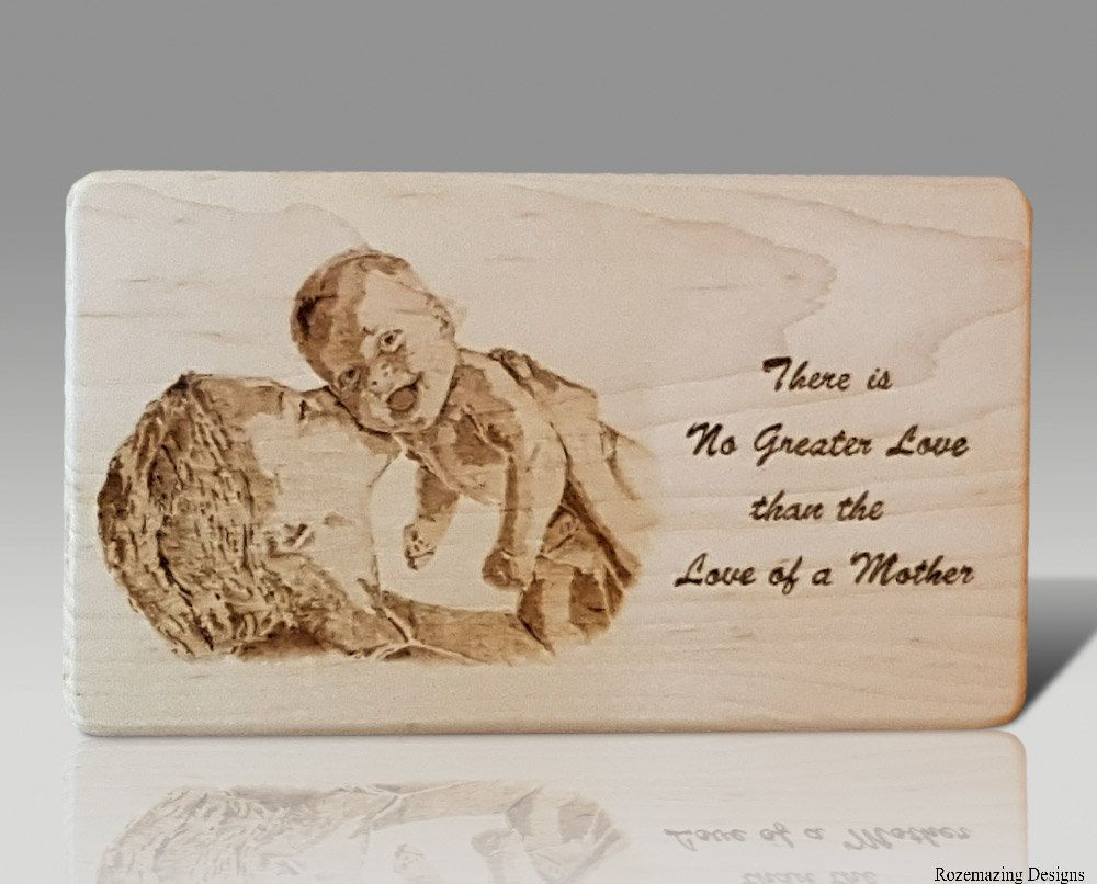 Love Plaques Quotes New Mother's Day Plaque  New Mother Baby Pyrography Art Love Quote