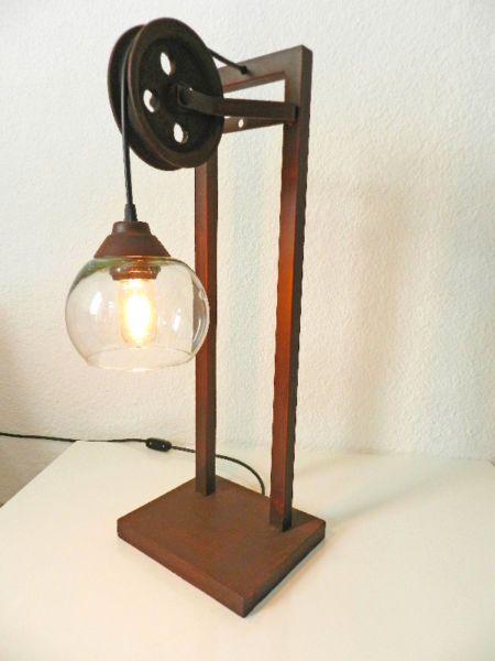 Lampara de mesa estilo industrial luces pinterest for Mesas industriales vintage