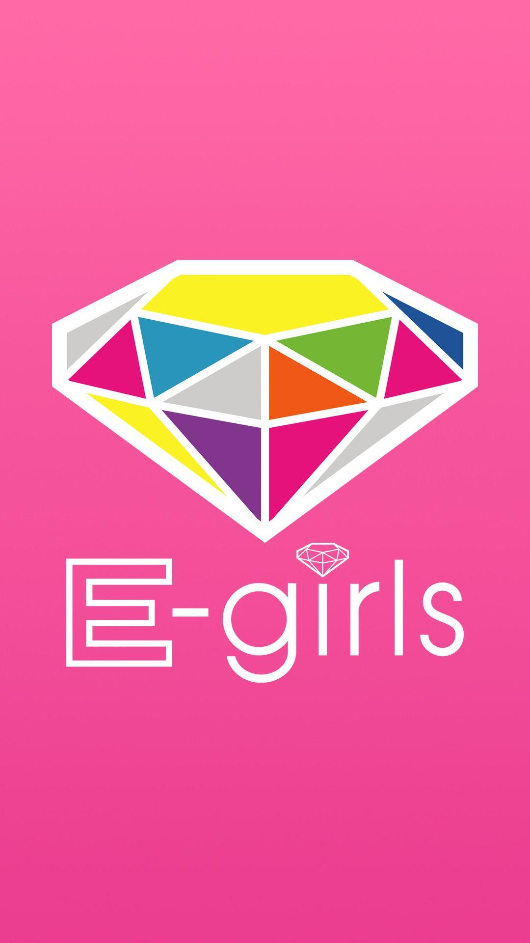 E Girlsのかわいいロゴ Iphone 壁紙 壁紙 Iphone壁紙