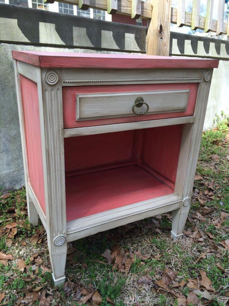 Flamingo drop cloth dixie belle paint paintiques by lisa harrison komode neu bemalt - Ausgefallene wohnzimmermobel ...