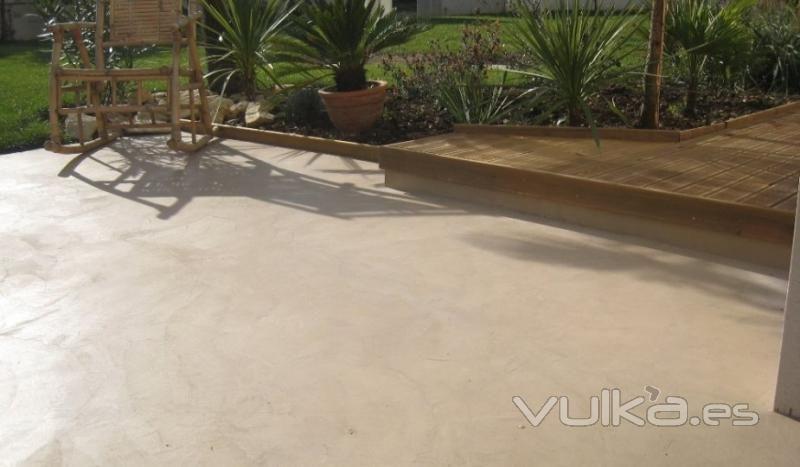 photos de sol beton ciré en exterieur Idées pour la maison - peinture exterieure sol beton
