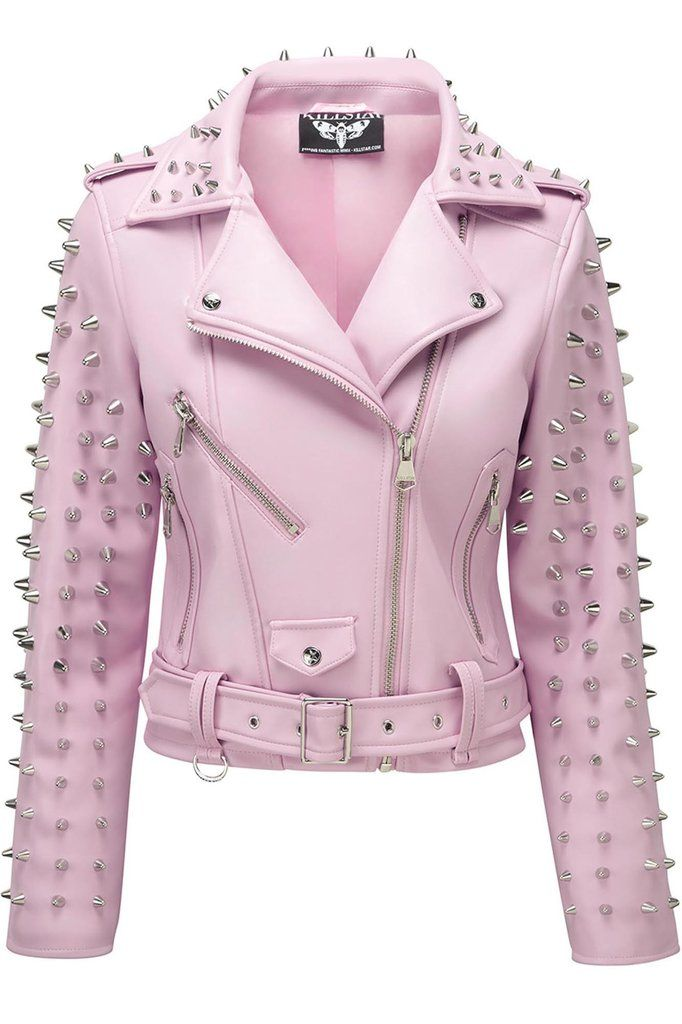 580cf05e6 Dahlia Studded Biker Jacket [PINK] in 2019 | Projects to Try ...