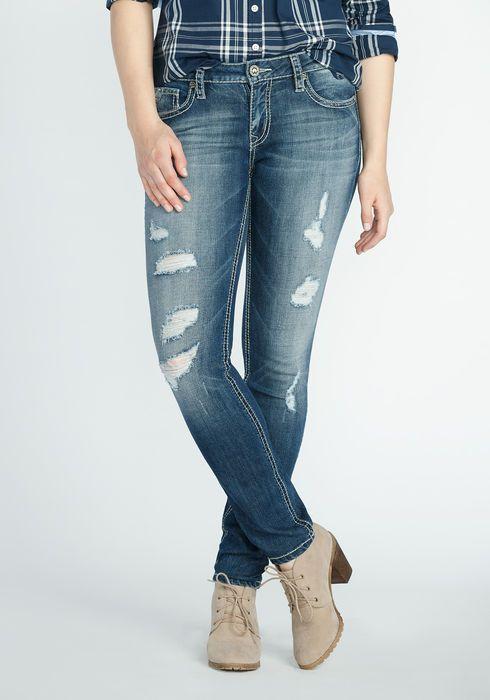 Women Flower Embroidered Skinny Jeans   Women jeans