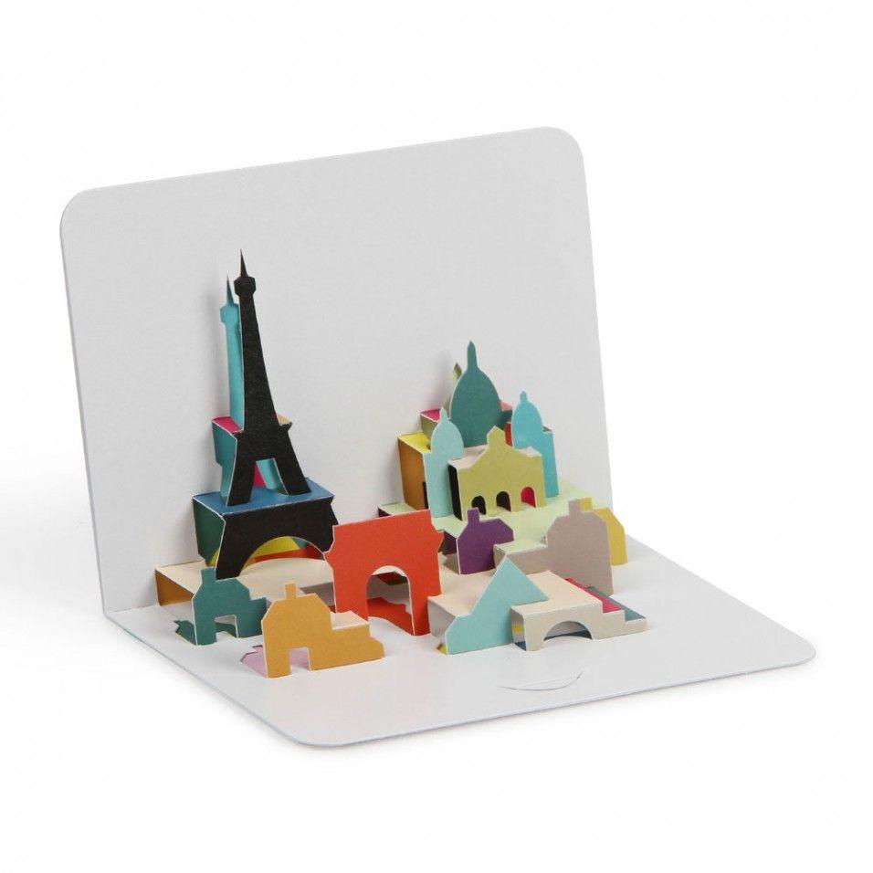 Paris skyline 3D pop-up card | Cards - 3-D | Pinterest | Paris ...