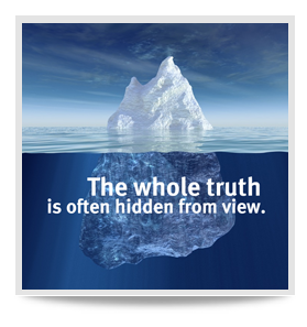 The whole truth is often hidden from view. Radar character from ...