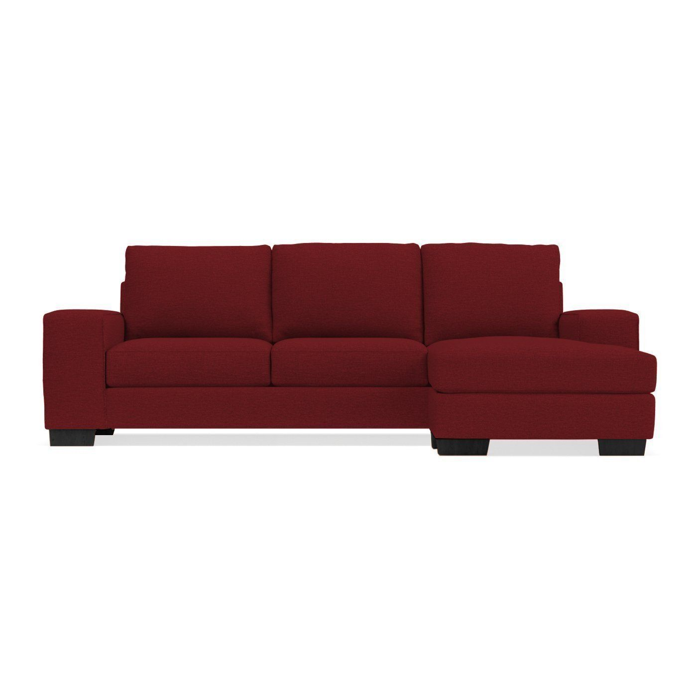 Melrose Reversible Chaise Sofa In Berry