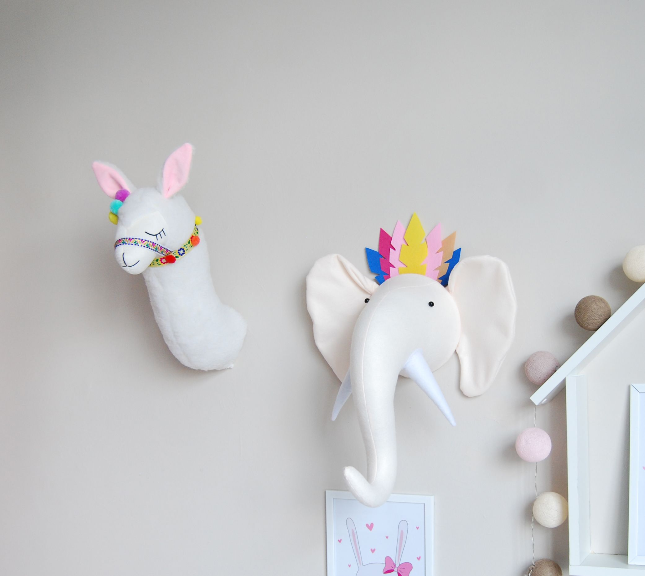Llama Head Wall Decor For Room By Kudikisshop Stuffed Animal