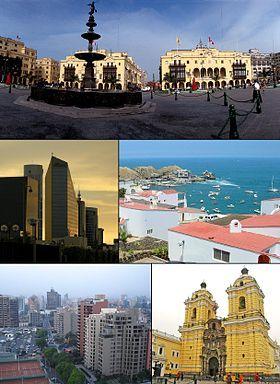 Lima es la ciudad capital de la República del Perú.2 Se encuentra situada en la costa central del país, a orillas del océano Pacífico, conformando una extensa y populosa área urbana conocida como Lima Metropolitana, flanqueada por el desierto costero y extendida sobre los valles de los ríos Chillón, Rímac y Lurín.