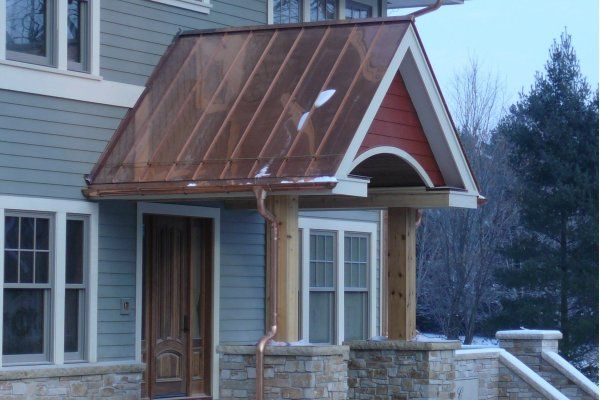 Copper Colored Tin Roof Copper Roof House Exterior House Colors