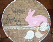 A whimsy welcoming to spring! Easter wall decor! Spring quote. Easter Embroidery hoop art