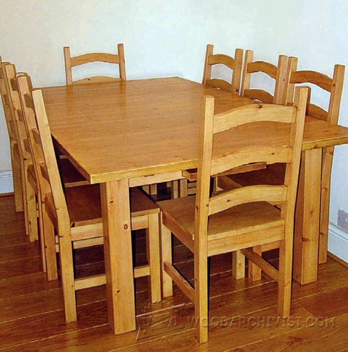 Pine Dining Table And Chairs Plans  Furniture Plans And Projects Glamorous Pine Dining Room Table And Chairs 2018
