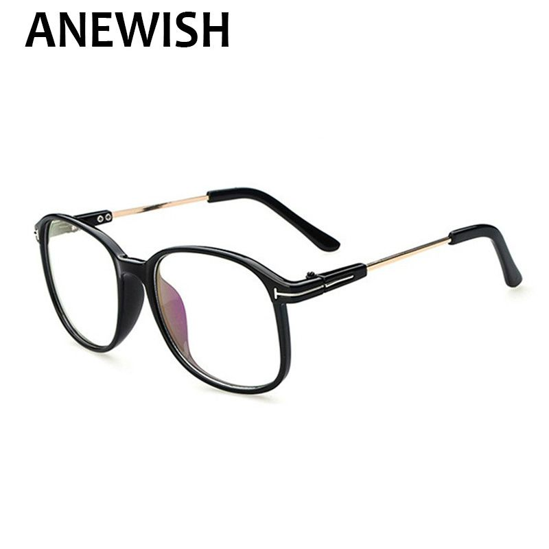 ANEWISH 2017 vintage large frame eyeglasses men women brand designer ...
