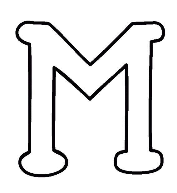 Big Letter M Coloring Pages   Abc's Crafts   Applique letters