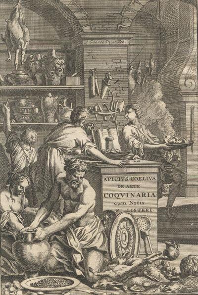 Frontispice - De re coquinaria d'Apicius, 1709.