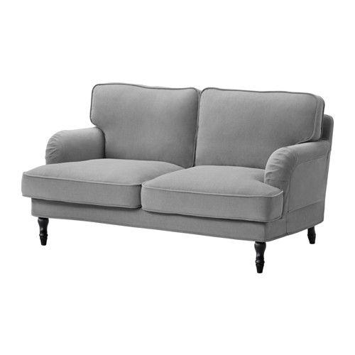 STOCKSUND Sofa 2 - Ljungen grå, sort - IKEA