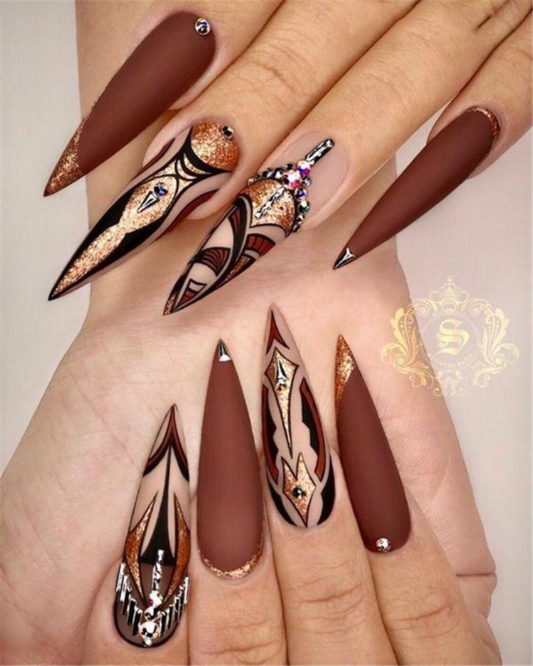 36 Gorgeous Trend Stiletto Nails In 2019 Stiletto Nail Art Pointed Nails Gorgeous Nails