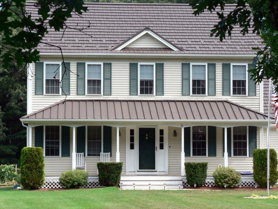 Rustic Shingle Metal Solutions Inc Indianapolis In Building A Porch Front Porch Addition Porch Remodel