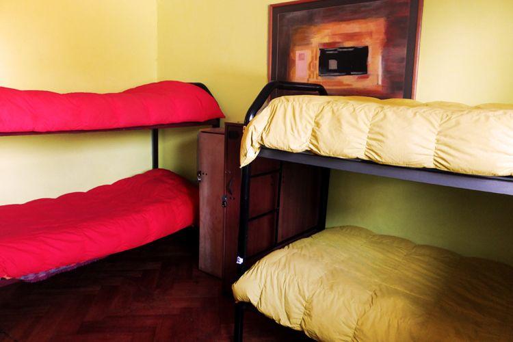 la habitacion 3 en el aji hostel en santiago de chile