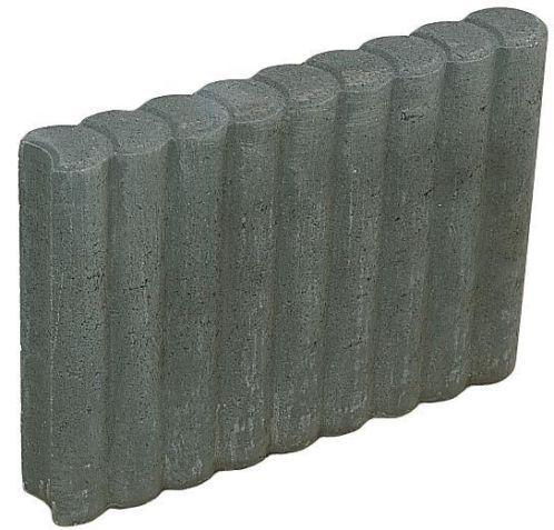 idem 8,95 voor 1 rondvormige betonnen rondoband palissade met de afmeting 8 x 35 x 50 cm in de kleur antraciet zwart