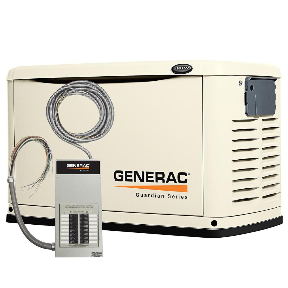 16,000-Watt Air Cooled Automatic Standby Generator with 100