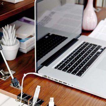 Organiseur Cables Idee Rangement Organisation Du Travail A Domicile Decoration Chambre Universitaire