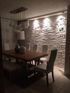 Pareti di pietra per interni di design