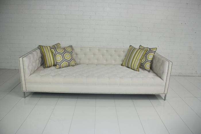Www Roomservice New Deep Tufted Sofa In Ivory Velvet