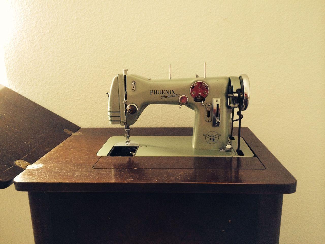 Phoenix Nähmaschine In In Dußlingen (Phoenix Automatic Sewing Machine)  Treadle Cabinet Base (class