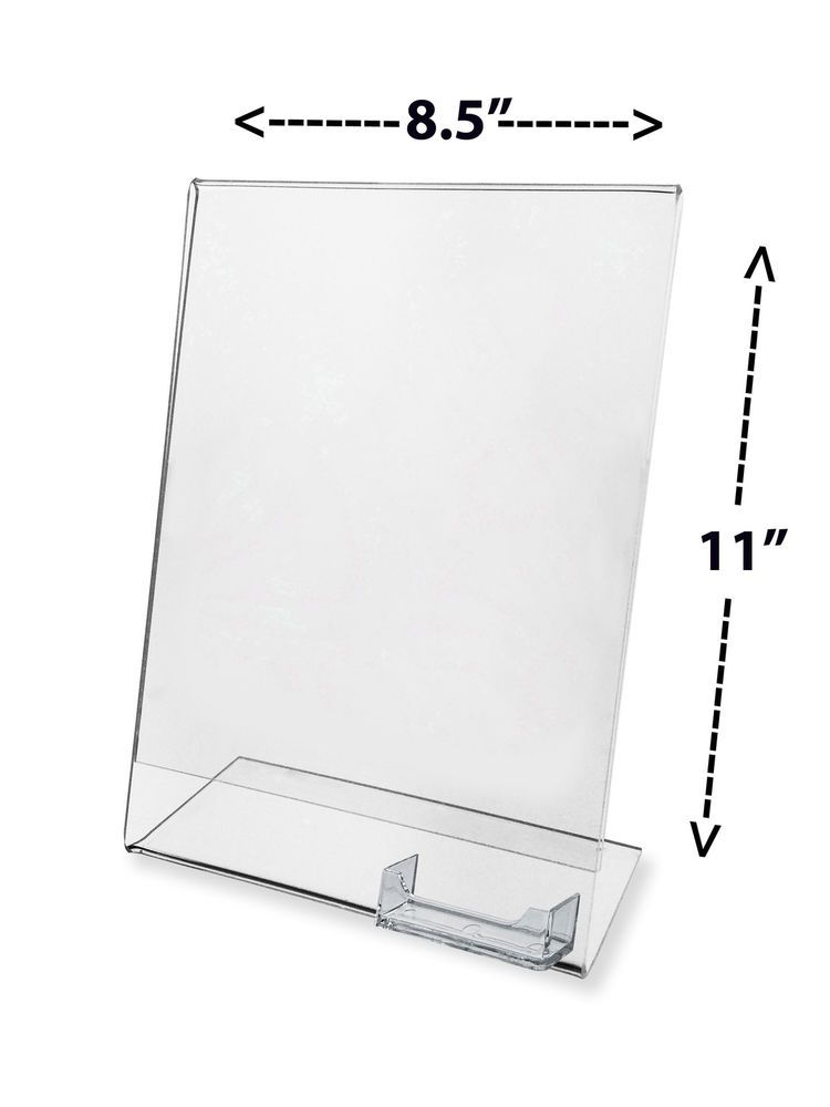 Ad Frame with attached Business Card Stand Holder 8.5\
