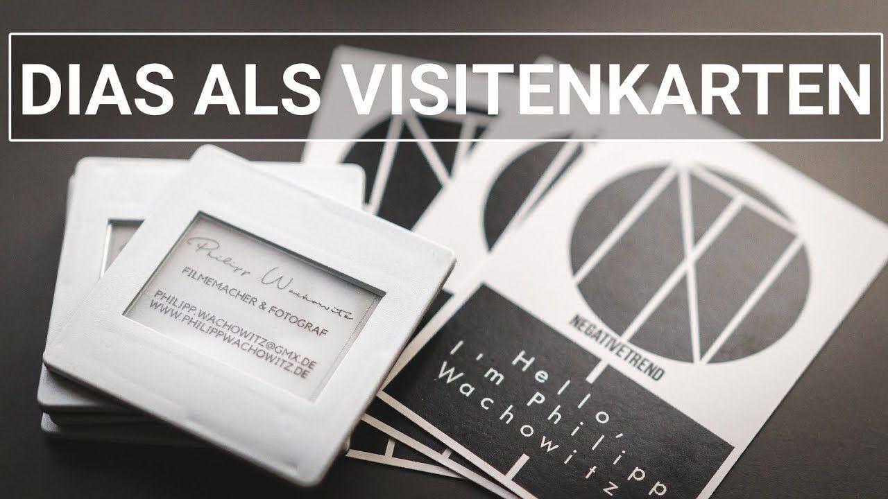 Dias als Visitenkarten | Kreative Alternative zu Papier | D I Y ...