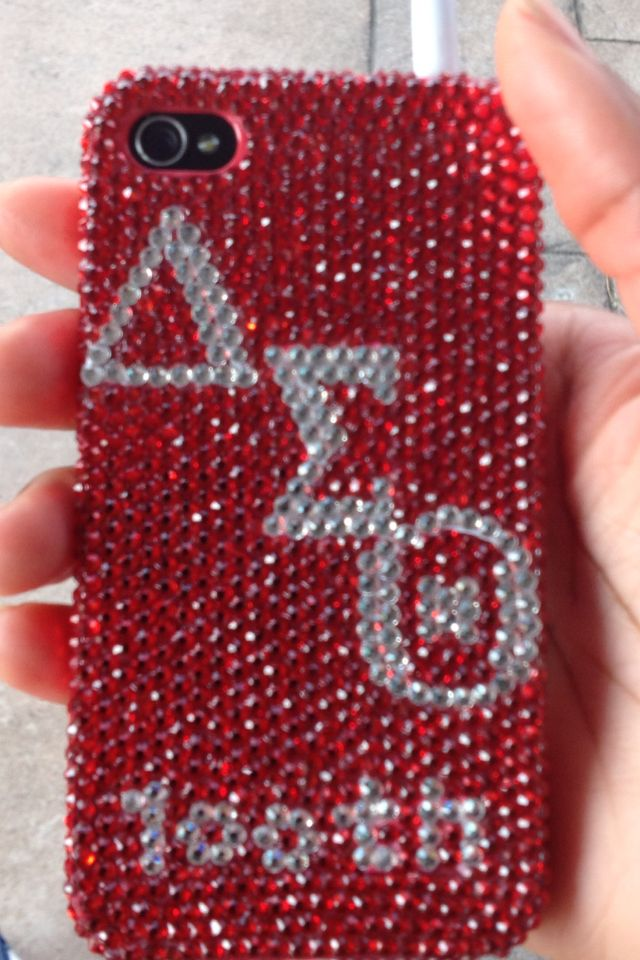 Blinged out Cell Phone case! : Sorority : Pinterest