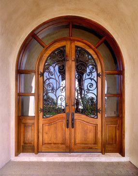 Custom 1/2 Round Entry Door w/ Transom - mediterranean - front doors on madison door, california door, ann arbor door, wilmington door, santa fe door, la descarga door, oxford door, aurora door, new york door, palm springs door, buffalo door, contra costa door, baton rouge door,