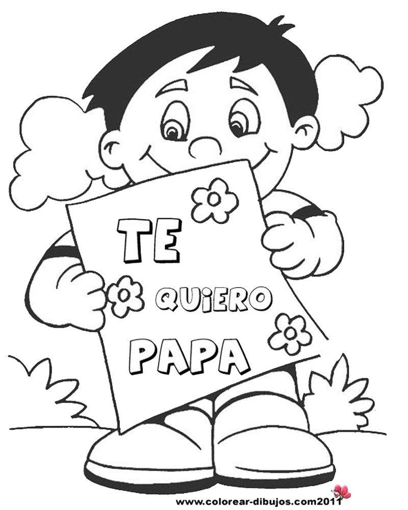 Imagenes de papa para colorear en 2020 | Dibujos dia del padre, Dia del  padre, Diplomas dia del padre