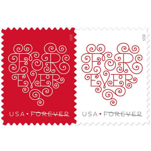 Usps Wedding Stamps.Forever Heart Usps Forever Postage 300 Stamps Wedding