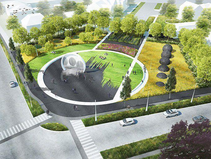 Image result for peter walker plaza design plan health for Landscape space